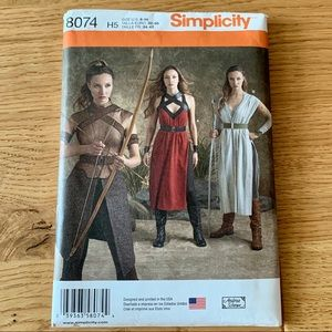 Warrior costume sewing pattern